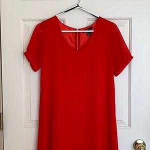 Super cute red shift dress